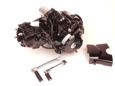 Engine, 50cc, manual clutch, Lifan, 4-speed, top starter motor, black