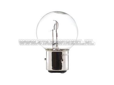 Bulb headlight BA21D, dual, 6 volt, 35-35 watt, Dax 3-pin