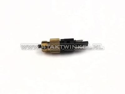 Brake light switch for hydraulic front brake, m8 and m10 thread