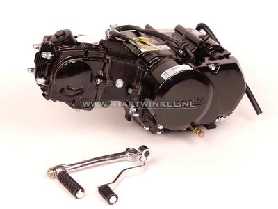 Engine, 85cc, manual clutch, Lifan, 4-speed, black
