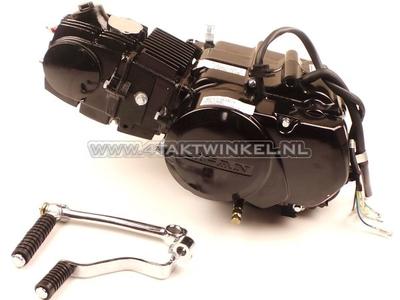 Engine, 107cc, manual clutch, Lifan, 4-speed, black