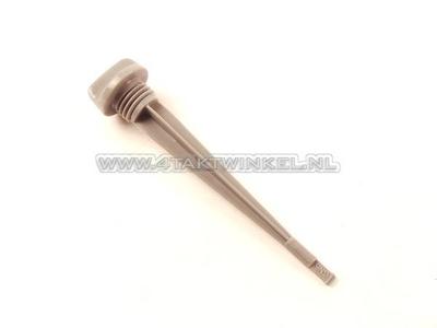 Oil dipstick long, 129mm, C50, C310, C320, original Honda