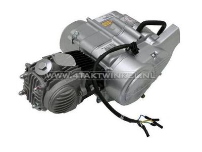 Engine, 50cc, semi-automatic, Lifan, 4-speed, silver
