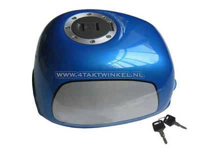 Tank, Gorilla, flat fuel cap, blue
