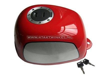 Tank, Gorilla, flat fuel cap, red