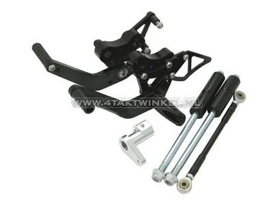 Backstep kit, Dax, Kepspeed, drum brake version, black