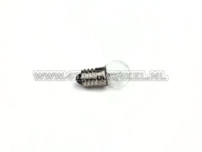 Bulb E10 screw socket, single, 6 volt, 2 watt