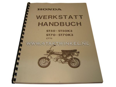 Workshop manual, Honda Dax OT 6 volts