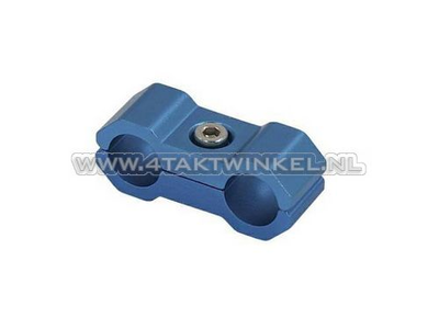 Cable clamp, 6mm, aluminum, blue