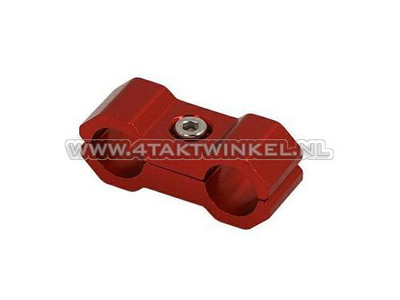 Cable clamp, 6mm, aluminum, red