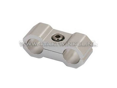 Cable clamp, 6mm, aluminum, silver