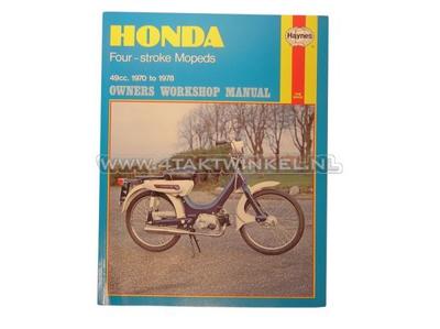 Workshop manual, Honda PC50, Novio, Amigo, Haynes, original