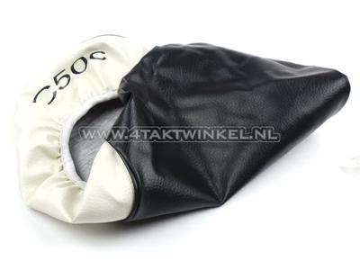 Seat cover C50 NT black / white, C50 print