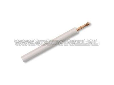 Wire per meter 0.75mm2, white