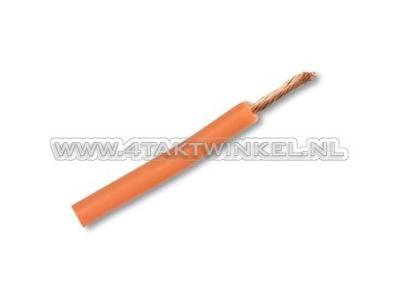 Wire per meter 0.75mm2, orange