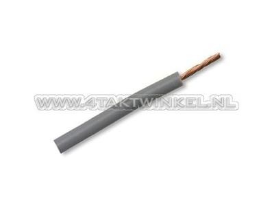 Wire per meter 0.75mm2, gray