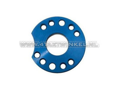 Adjuster plate for carburettor aluminum, blue