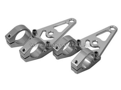 Headlight brackets, universal, CNC aluminum, 26mm