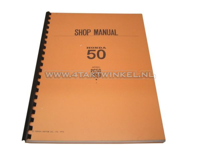 Workshop manual, Honda PS50, PC50 English