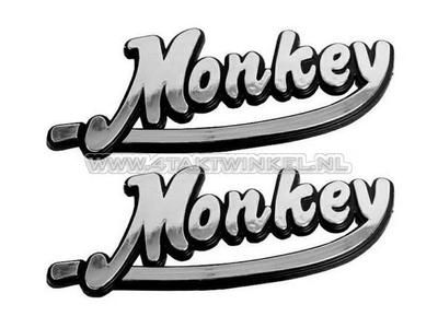 Emblem Monkey, set, silver
