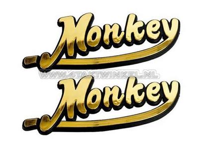 Emblem Monkey, set, gold