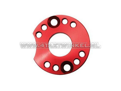 Adjuster plate for carburettor aluminum, red