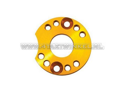 Adjuster plate for carburettor aluminum, gold