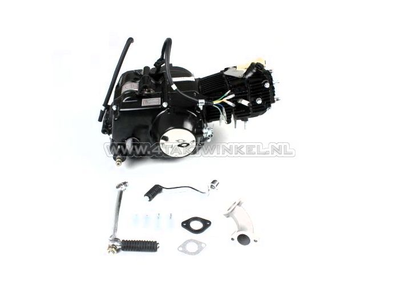 Engine, 70cc, manual clutch, Lifan, 4-speed, black