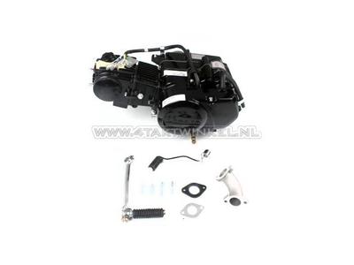 Engine, 50cc, manual clutch, Lifan, 4-speed, black