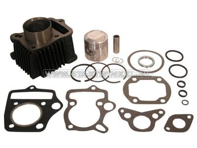 Cylinder kit, with piston & gasket 70cc, OT70 head 49cc op.?steel, Japanese