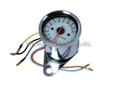 Tachometer universal chrome electronic
