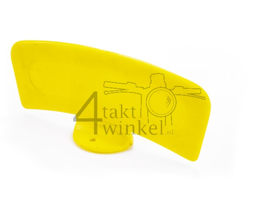 Mudguard plate moped yellow, universal