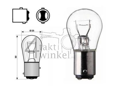 Rear bulb Duplo BAY15D, 6 volts, 18-5 watts