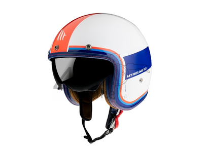 Helmet MT, Le Mans Speed, white / blue / red, Sizes S to XL