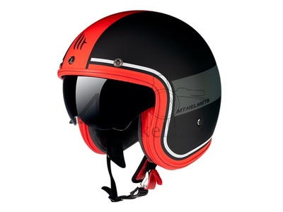 Helmet MT, Le Mans Speed, black/grey/red, Sizes S to XL