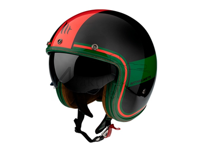 Helmet MT, Le Mans Speed, black/green/red, Sizes S to XL
